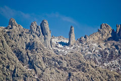Velebit mountain national park stone sculptures Stock Images