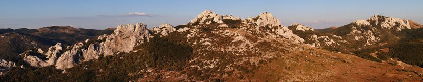 Velebit mountain range in Croatia - panorama Royalty Free Stock Photography