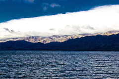 Velebit mountain and sea weather layers. Dalmatia, Croatia Royalty Free Stock Image