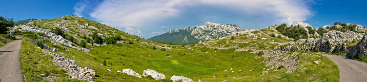 Velebit mountain wilderness panoramic view Stock Image