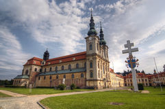 Velehrad -玛丽的假设大教堂  库存照片