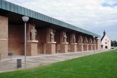 Velehrad pilgrimage site, numerous statues of saints Royalty Free Stock Photos