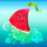 Veleiro da melancia do verão Fotografia de Stock