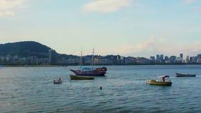 Veleiro e barcos de pesca filme