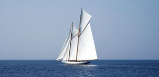 Veleiro no mar Imagem de Stock Royalty Free