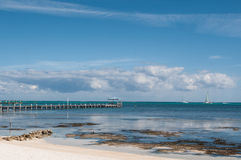 Veleiro no oceano das caraíbas Foto de Stock