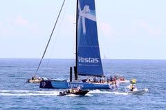 Veleiros da raça do oceano de Volvo na raça Foto de Stock Royalty Free