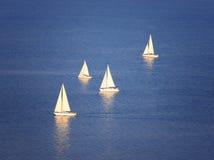 Veleiros no lago Balaton Imagem de Stock