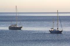 Veleiros no mar imagem de stock royalty free