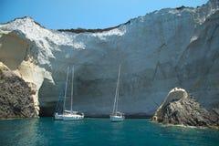 Veleiros no mar agean em Grécia Imagem de Stock Royalty Free