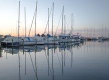 Veleiros no porto de pesca - Dragor Dinamarca Imagens de Stock Royalty Free