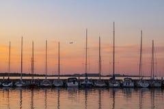 Veleiros no porto de pesca - Dragor Dinamarca Fotografia de Stock