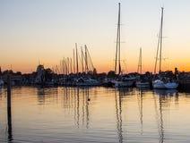 Veleiros no porto de pesca - Dragor Dinamarca Fotos de Stock