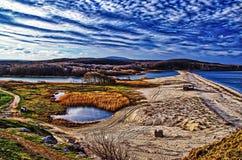 Veleka rzeka - Sinemorets, Bułgaria obraz stock