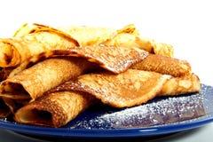 Velen bakten gerolde pannekoeken Royalty-vrije Stock Fotografie
