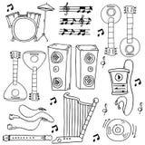 Velen bewerken de voorraadinzameling van muziekkrabbels royalty-vrije illustratie