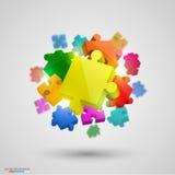 Velen brengen kleuren in verwarring Vector royalty-vrije illustratie