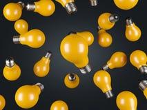 Velen dalende gele lamp royalty-vrije illustratie
