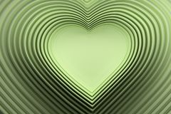 Velen die groene hart gestalte gegeven lijnen met lege ruimte in het centrum herhalen stock illustratie