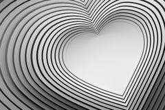 Velen die hart gestalte gegeven lijnen met lege ruimte herhalen vector illustratie