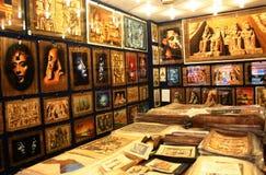 Velen Egyptische papyrus stock foto