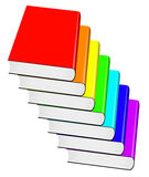 Velen gekleurd boek royalty-vrije illustratie