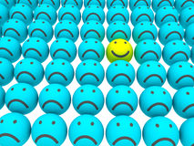 Velen glimlach stock illustratie