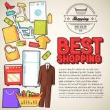 Velen hebben gekocht in de winkel bezwaar Het winkelen vector illustratie