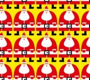 Velen het naadloze patroon van Santa Christmas Stoffenornament Textuur vector illustratie