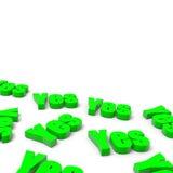 Velen ja Engelse Groene Tekst vector illustratie