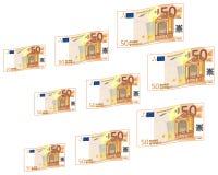 Velen klein en groot contant geld stock illustratie