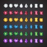 Velen kleuren gem vector illustratie
