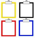 Velen kleuren klembord stock illustratie