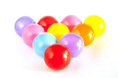 Velen kleuren plastic ballen Royalty-vrije Stock Foto