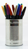Velen kleuren potloden royalty-vrije stock foto