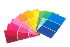 Velen kleuren steekproeven Stock Foto