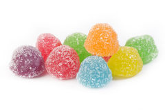 Velen kleurrijk kleverig suikergoed Stock Foto