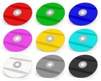 Velen Kleurrijke DVD ` s royalty-vrije illustratie