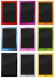 Velen kleurrijke modieuze tablet - PC vector illustratie