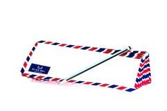 Velen luchten postbrief op de witte achtergrond vector illustratie