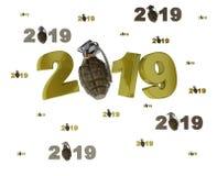 Velen Militaire Granaat 2019 Ontwerpen met veel Granaten vector illustratie