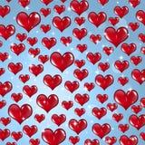 Velen Rood Valentine Hearts royalty-vrije illustratie