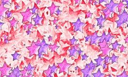 Velen schilderden sterrenachtergrond stock illustratie