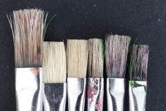 Velen schilderen borstels Stock Fotografie