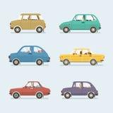 Velen Stijl van Auto's Zijaanzicht stock illustratie