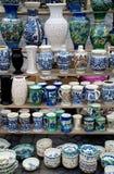 Velen traditioneel Roemeens aardewerk Royalty-vrije Stock Afbeelding