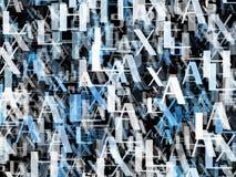 Velen vatten blauwe alfabetbrieven samen stock illustratie