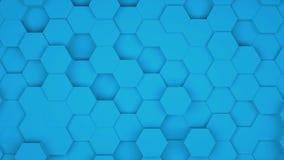 Velen vatten geometrische zeshoeken als golf, optische illusie, computer het geproduceerde samen 3D teruggeven vector illustratie