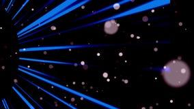 Velen vatten kleine violette deeltjes in ruimte samen, computer geproduceerde abstracte achtergrond, het 3D teruggeven stock illustratie
