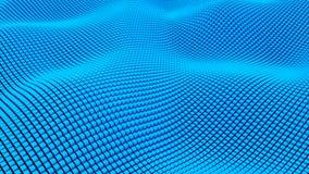 Velen vatten rechthoekige blokken, optische illusie, moderne computer geproduceerde 3D teruggevende achtergrond samen royalty-vrije illustratie